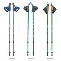 China Nordic Walking Stick 7075 Trekking Poles Outdoor 65-135cm Telescopic Climbing Equipment Aluminum  Hiking Trekking Poles wholesale