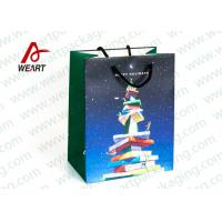 CMYK Printing Holiday Christmas Paper Bags For Candy Shop OEM / ODM Avaliable Manufactures