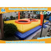 China 0.55MM PVC Inflatable Football Pitch Bossaball Court Inflatable HolleyBall Playground on sale