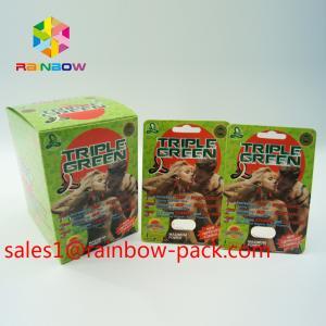 China Black Mamba display box Sex enhancement Pills Packaging card 3D effect sex pill packaging card 3D effect sex bottle pack on sale