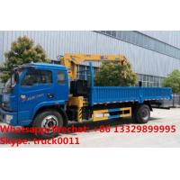 Buy cheap Factory sale good price YUEJIN Brand 4*2 LHD 3.2tons telescopic boom mounted on cargo truck, truck with crane for sale from wholesalers