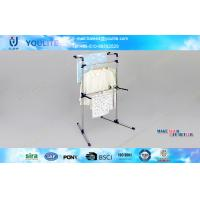 Adjustable Solid Free Standing Clothes Drying Rack Modern for Garden / Bedroom Manufactures