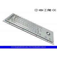 Ruggedized Panel Mount Metal Keyboard With Trackball / Stainless Steel Keyboard Manufactures
