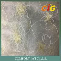 60 G/M2 Polyester Material Home Textile Products Embroidered Voile Curtain Fabric Manufactures