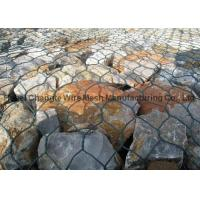 PVC Coated Galvanized Hexagonal Wire Netting For River Channel , Customize Gabion Stone Cages
