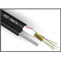 24 Core Black Aerial Fiber Optic Cable Single Mode With Non - Mental Strength Member
