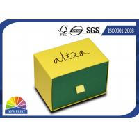 Simple Design Cardboard Packaging Box Rigid Drawer Box For Belt , Wallet , Necktie Manufactures