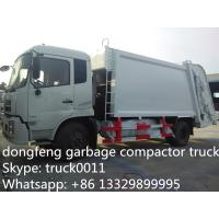 China Dongfeng 4X2 LHD10tons Compress Garbage truck for sale, hot sale best price dongfeng 210hp/180hp garbage compacted truck wholesale