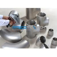 UNS S2507 Pipe Fittings , Elbows For Connection Pipes , Duplex Steel Fitting Manufactures