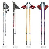 China Outdoor 65-135cm Nordic Walking Stick 7075 Trekking Poles  Telescopic Climbing Equipment Aluminum  Hiking Trekking Poles wholesale
