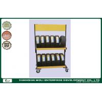 Foldable steel rolling tire storage rack for warehouse stacking rack Manufactures