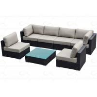 China Outdoor Sofa Furniture Classic 7-pieces Outdoor Garden Rattan Bed Wicker Couch wholesale