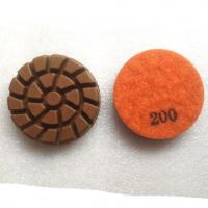 China Spiral Concrete Floor Resin Bond Diamond Dry Wet Polishing Pads on sale