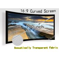China DIY Fixed Frame Curved Projection Screen , Widescreen 16 X 9 for Home Theatre on sale