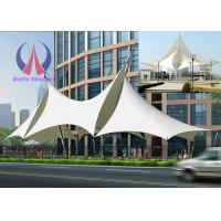 China Multi Ridge Fabric Cable Metal Shade Structures , Outdoor Patio Sun Shade Sail Canopy on sale