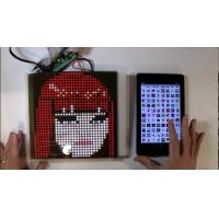 China SparkFun or Adafruit 32x32 RGB LED Panel Driver Tutorial 16 data signals connect + 5VDC refreshed to display an image on sale