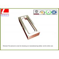 Custom Stainless steel machining rectangular housing with nickel plating for GPS tracking system