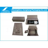Custom Printed Cardboard Wine Packing Boxes / Packaging Box With Handle Manufactures