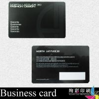 China Black Spot UV Gloss PVC Business Cards Foil Stamping / Corporate ID Card on sale