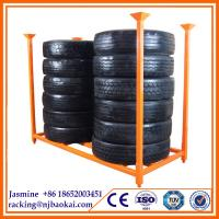 Tire display stand rack,20 year service life,well-sold in Europe steel tire stacking racks for industry Manufactures