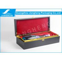 MDF Wooden / Cardboard Single Wine Packing Boxes With Custom Logo Recycled Manufactures
