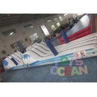 Gaint Outdoor Inflatable Water Obstacle Course With Frame Pool Manufactures