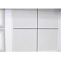Perforated Lay In Suspended Metal 1200 x 600 Ceiling Tiles Sheet For Office Building Manufactures