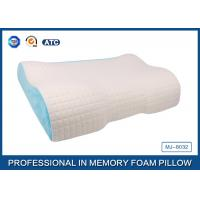 China Different Height  Wave Memory Foam Contour Pillow with Deluxe Comfort Pillow Cover wholesale