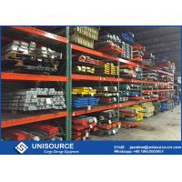 High Density Durable Teardrop Pallet Rack With Heavy Duty Steel Box Beam Manufactures
