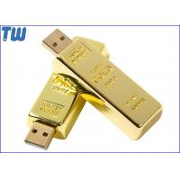 Buy cheap Finance Promotional Golden Stick Sliding 1GB USB Thumb Drives from wholesalers