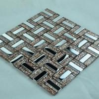 China Gold Glass Mosaic Tile  (R014) on sale