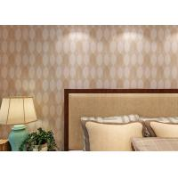 Bronzing Leaf Bedding Room Home Wall Decor Wallpaper Adult Style , Economical Manufactures