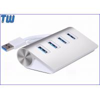 Stable Triangle Design Al Alloy 4 Ports USB 3.0 Hub with Usb 3.0 Cable