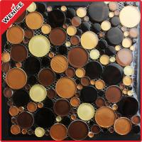China China manufacturer brown wall glass mosaic tiles on sale