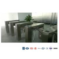 China Waist High Railway Access Control Turnstiles Stainless Steel Silver RFID Reader on sale