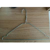 China Customized Color Wire Clothes Hangers / Recyclable Wire Shirt Hangers wholesale