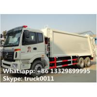 China Foton Auman 6*4 LHD 18m3 garbage compactor truck for sale, factory sale 18cbm compacted garbage truck wholesale