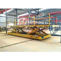 Cable drum hydraulic lifting device electric steel rail material transfer wagon Manufactures
