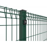 Roll Top and Bottom Fence , PVC / Powder Coated Roll Top Welded Wire Fence Manufactures