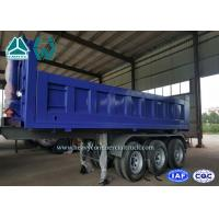 China 40 Cubic Meter Rear Tipper Semi Trailer 3 Axle with 6 - 8 Steel Sheet , 9200mm Length on sale