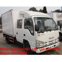Buy cheap High quality 2018s Japan ISUZU 4*2 LHD double cabs 2tons fresh meat cooling van truck for sale, refrigerator truck from wholesalers