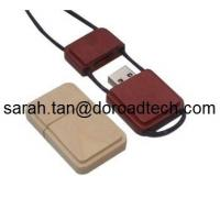 China High Quality Wooden Mini USB Flash Drives, Real Capacity USB Pen Drives with String on sale