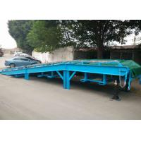 China Steel Mesh Seperated Forklift Mobile Yard Ramp , Portable Dock Ramps on sale
