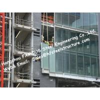 Structural Aluminum Framed Glass Façade Unitized Curtain Wall System with Low-E Coating Film Insulation Manufactures