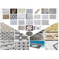 China Polished Surface Marble Mosaic Tile 305mm * 305mm * 10mm / Customed Size on sale