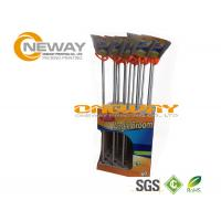 Promotion Broom Cardboard Display Stands Pantone And CMYK Color Manufactures
