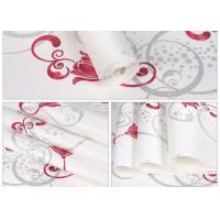 White Foam Floral Self Adhesive Wallpaper Water Resistant Wallpaper For Administration Manufactures