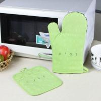 China Promotional Customized Pattern Kitchen Cooking Oven Mitts And Pot Holders With Neoprene Oven Mitt wholesale
