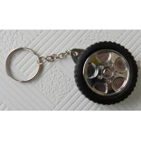 China Corporate Gifts Promotional Items , Tyre Shape Tape Measure Keychain on sale