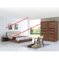 Good quality Upholstery headboard bed with wood storage bottom and Sliding door wardrobe Manufactures